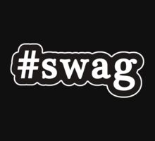 Swag - Hashtag - Black & White by graphix