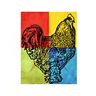 Rocky the Rooster Tote Bag by debsrockine