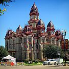 Lockhart Texas, County Courthouse on Farmers Market Day by Jack McCabe