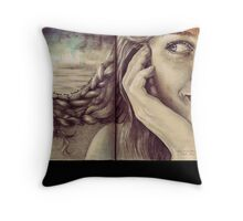 I hope my boat will come in... Throw Pillow