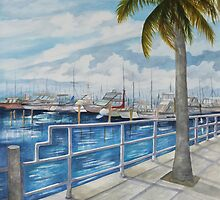 Dinner Key Marina Stroll by Rosie Brown