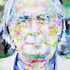 J. G. BALLARD - watercolor portrait by lautir