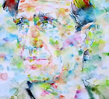 NEAL CASSADY watercolor portrait by lautir