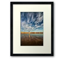 ...With the Wind in her Hair... Framed Print