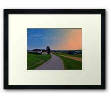 Country road on a summer afternoon II | landscape photography Framed Print