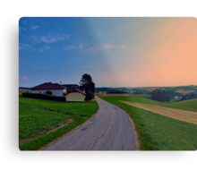 Country road on a summer afternoon II | landscape photography Metal Print