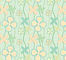 Colorful pattern with cute flowers by megaspy
