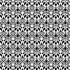 Black And White Damask Pattern by destei