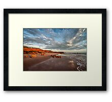 Reddell Rocks Framed Print