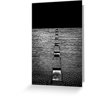 Above and Below at No 369 Pape Ave Toronto Canada Greeting Card