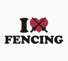 I love Fencing epee by Designzz