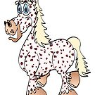 Painted Horse Cartoon by Graphxpro