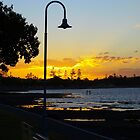 Wynnum Sunset 2 by Wayne  Nixon
