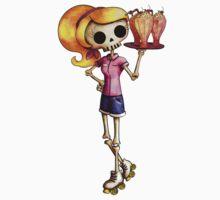 Skeleton Pin Up Girl Waitress Kids Clothes