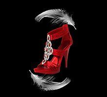 ♥•.¸¸.ஐCLASSY RED SHOE WITH A FEATHERS TOUCH THROW PILLOW ♥•.¸¸.ஐ  by ✿✿ Bonita ✿✿ ђєℓℓσ