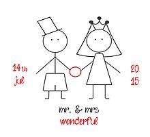 mr. & mrs wonderful with dates! Photographic Print