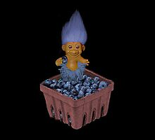 ❀◕‿◕❀TROLL LOVING BLUEBERRIES THROW PILLOW❀◕‿◕❀ by ╰⊰✿ℒᵒᶹᵉ Bonita✿⊱╮ Lalonde✿⊱╮