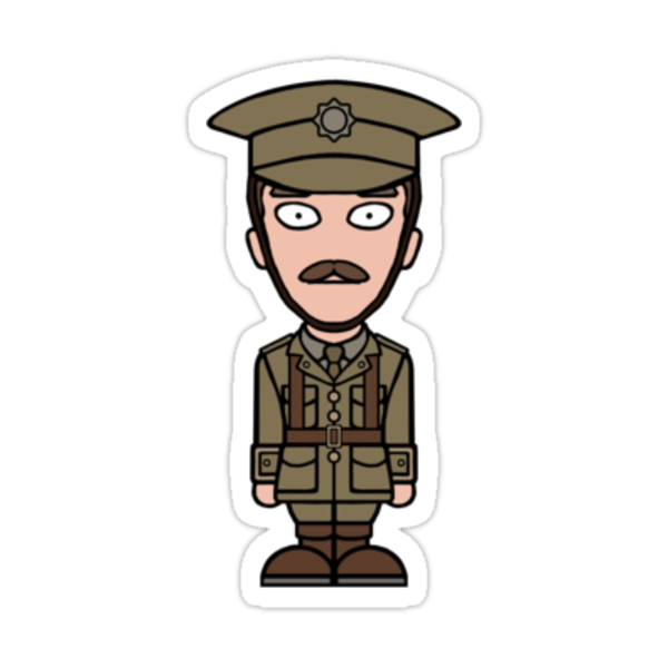 Major Stewart from War Horse (sticker) by redscharlach
