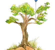 """I have a balloon"" said the Tree by terramar"