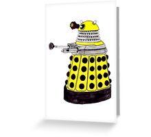 New Paradigm Dalek--Yellow, Watercolour. Greeting Card