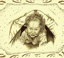 Aaliyah's Tent - Sepia -  with Boarder by julieannart