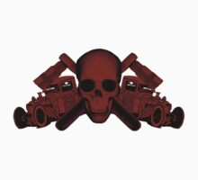 red wrench skull ratrod by ctoph22282