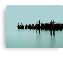 Old Fishing Dock One Canvas Print