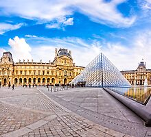 Entering The Louvre - Paris Landmarks by Mark Tisdale