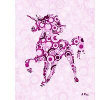 Pink Unicorn - Animal Art Photographic Print
