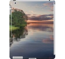 Lake Sunrise - the summer sun rises over a lake in southern Sweden. iPad Case/Skin
