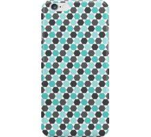 Aqua blue and gray hexagon pattern iPhone Case/Skin
