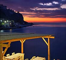 Have a seat at Limeni - Mani, Greece by Hercules Milas
