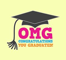 OMG congratulations you graduated! with mortar board by jazzydevil