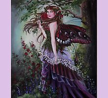 Secret garden fairy tote bag by Gabriella  Szabo