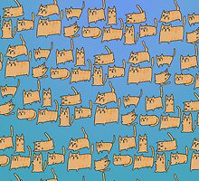 Lazy Cat Pattern by Stacey Muir