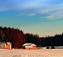 Amazing vivid winter wonderland | landscape photography Sticker