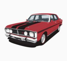 Ford Falcon XY GT - Track Red  by antdragonist