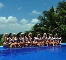 16 bikini models posing for White Tank Project  by Anton Oparin