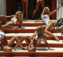 Blonde models only posing for White Tank Project - stairs by Anton Oparin