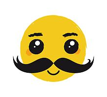 Smile Kawaii Mustache Nr. 01 by silvianeto