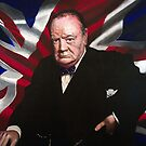 Sir Winston Churchill by Jan Szymczuk