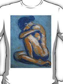 Blue Soul - Female Nude T-Shirt