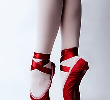 Red Pointe Shoes by chicagotheatre