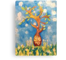 Love me, Love my tree Canvas Print