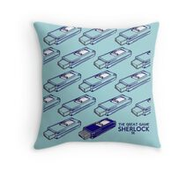Sherlock Minimalist poster-style Shirts and art-The Great Game, S1E3 Throw Pillow