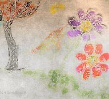 Sun Tree Mountain Flower Ancient Origins by Rondanart