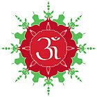 OM symbol on red and green flower by cycreation