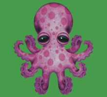 Cute Pink Baby Octopus Kids Clothes