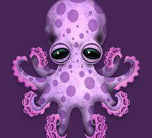 Cute Purple Baby Octopus by Jeff Bartels
