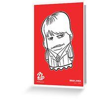 27 Club Brian Jones Poster Greeting Card